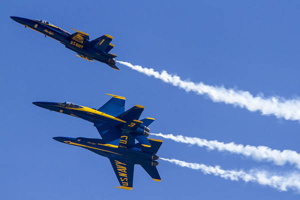 Photograph - The Blue Angels In Action 5 by Jim Moss