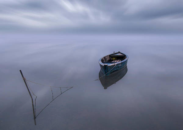 Wall Art - Photograph - The Blue Boat by Joaquin Guerola