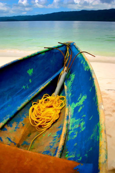 Wall Art - Photograph - The Blue Boat by Peter OReilly
