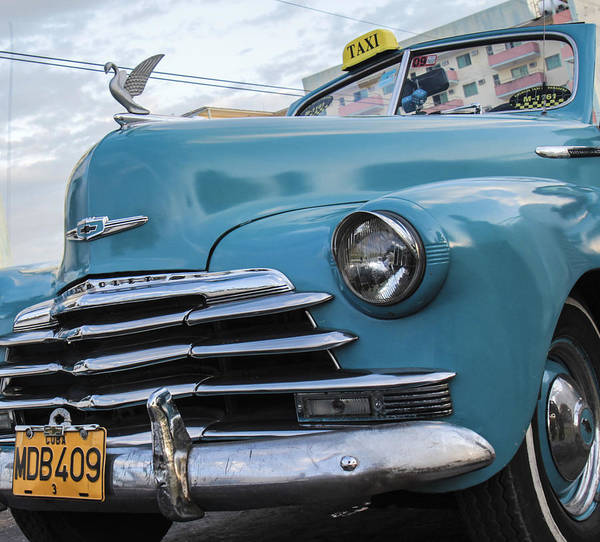 Photograph - The Blue Chevy by Nick Mares