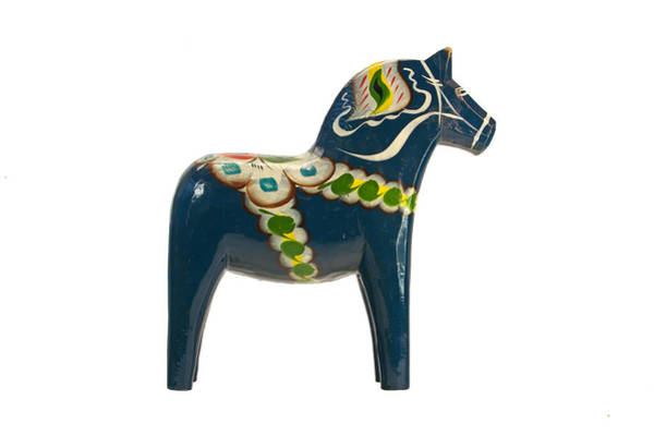 Photograph - The Blue Dala Horse by Torbjorn Swenelius