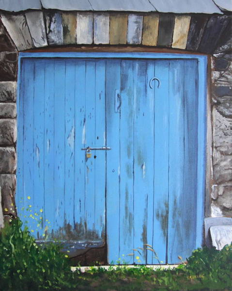 Dereliction Painting - The Blue Door by Tony Gunning