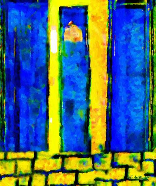 Wall Art - Painting - The Blue Doors Of La Rue Des Fauves by RC DeWinter