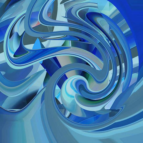 Digital Art - The Blue Event by rd Erickson