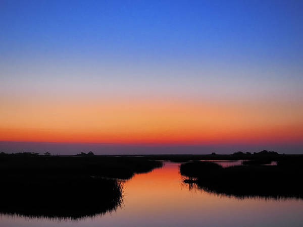 Photograph - Blue Hour Sunrise Sunset Image Art By Jo Ann Tomaselli by Jo Ann Tomaselli