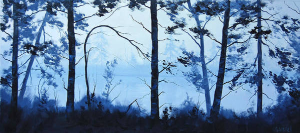 Brook Painting - The Blue Lake by Graham Gercken