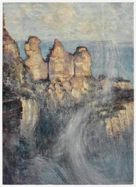 New South Wales Drawing - The Blue Mountains, New South  Wales - by Mary Evans Picture Library