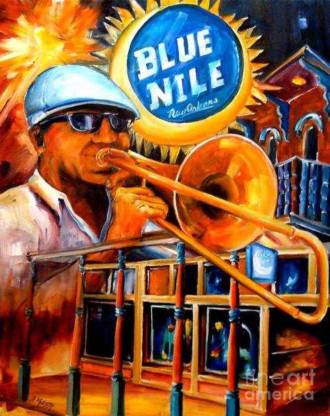 Wall Art - Painting - The Blue Nile Jazz Club by Diane Millsap