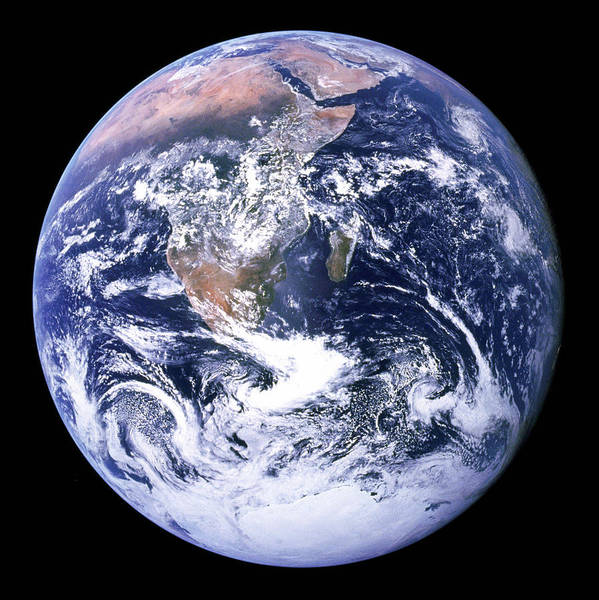 Photograph - The Blue Planet - The Blue Marble by Celestial Images