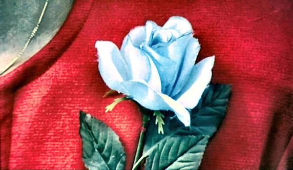 Ludzska Wall Art - Painting - The Blue Rose by Luis Ludzska