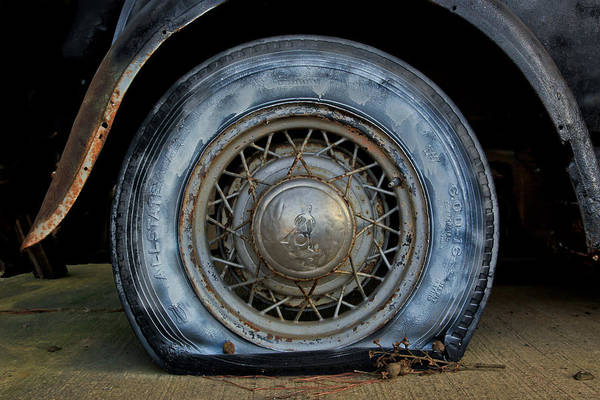 Photograph - The Blue Tire by Tom and Pat Cory