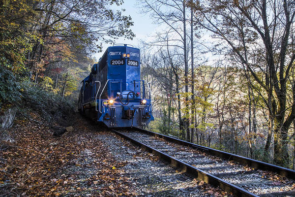 Wall Art - Photograph - The Blue Train by Debra and Dave Vanderlaan