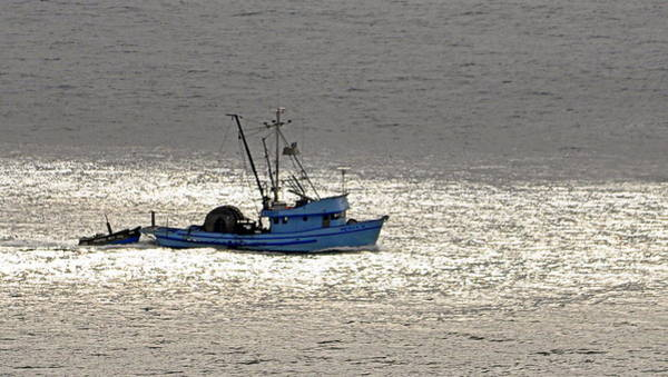 Photograph - The Blue Trawler by AJ  Schibig