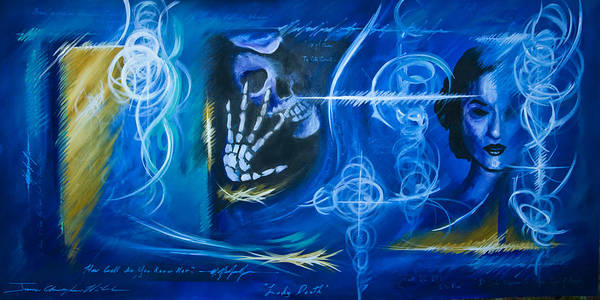 Wall Art - Painting - The Blue Witch by James Christopher Hill