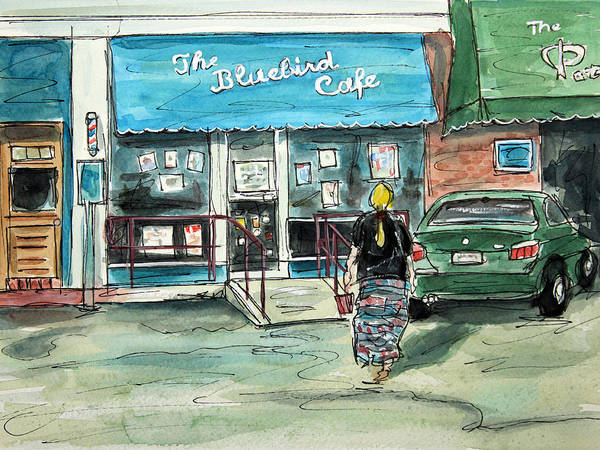 The Bluebird Cafe Painting - The Bluebird Cafe Nashville by Tim Ross