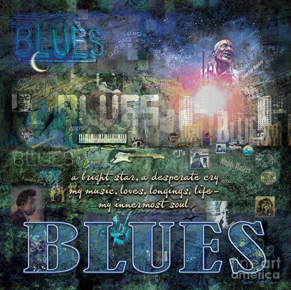 Rays Digital Art - The Blues by Evie Cook