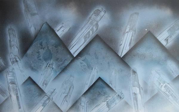 Blue Mountain Way Art Print