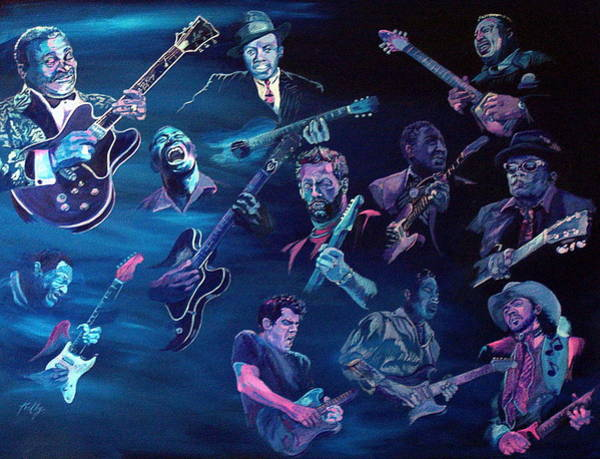 B B King Wall Art - Painting - The Blues by Kathleen Kelly Thompson