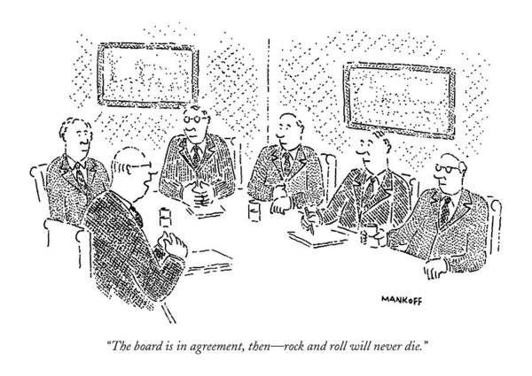 Conservative Wall Art - Drawing - The Board Is In Agreement by Robert Mankoff