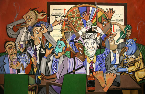 Partying Painting - The Board Room by Anthony Falbo