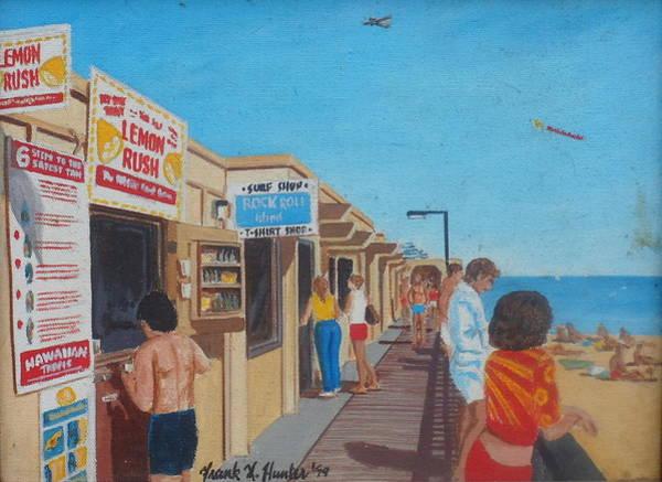 The Boardwalk At Daytona Beach Art Print