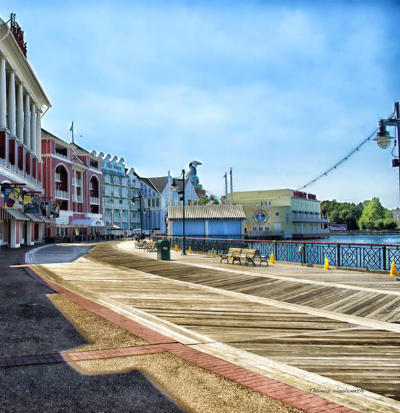Wall Art - Photograph - The Boardwalk Sidewalk Walt Disney World by Thomas Woolworth