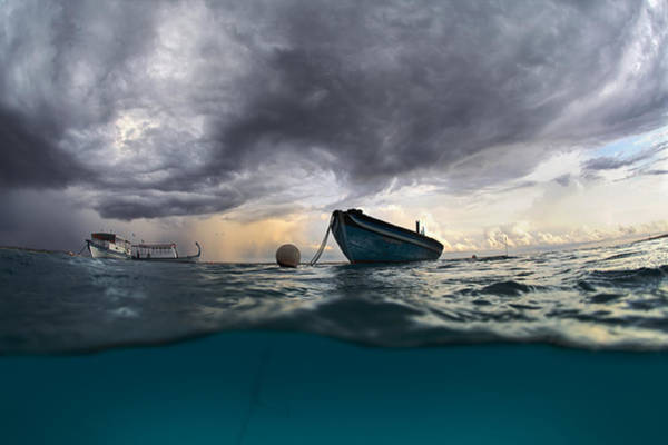 Thunderstorm Wall Art - Photograph - The Boat by Andrey Narchuk