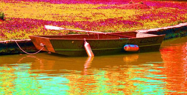 Dingy Digital Art - The Boat by Barbara McDevitt