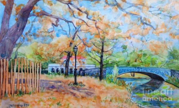 Painting - The Boat House And Lullwater Bridge by Nancy Wait