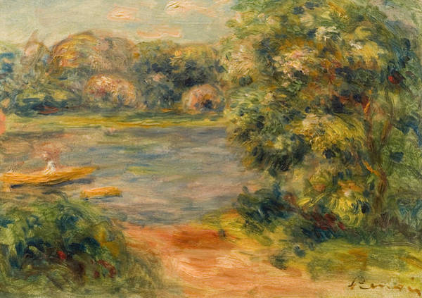 Wall Art - Painting - The Boat On The Lake by Pierre Auguste Renoir