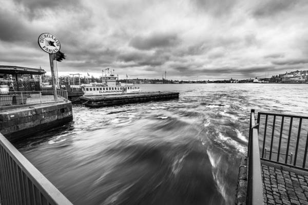 Konica Wall Art - Photograph - The Boat To The Royal Gardens Stockholm Sweden by Giuseppe Milo