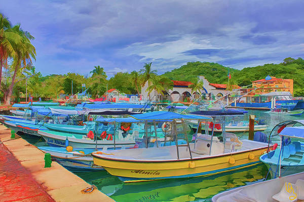 Digital Art - The Boats Of Hautulco by Deborah Boyd