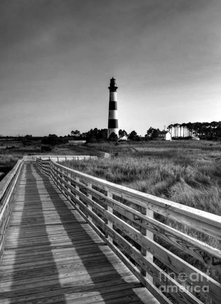 Photograph - The Bodie Island Light Bw by Mel Steinhauer