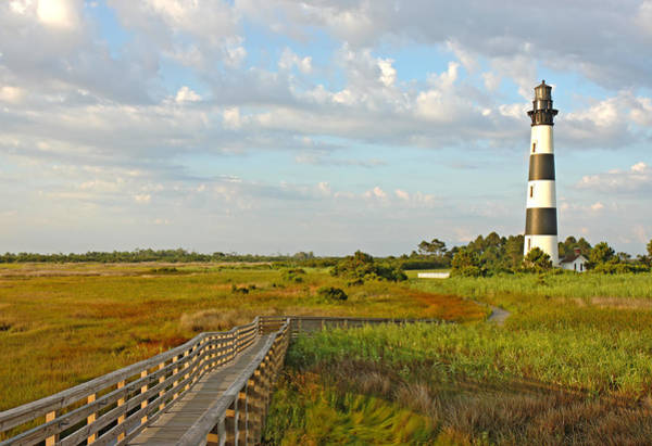 Roanoke Marshes Light Wall Art - Photograph - The Bodie Island Lighthouse On The Outer Banks Of North Carolina by Stephen Goodwin