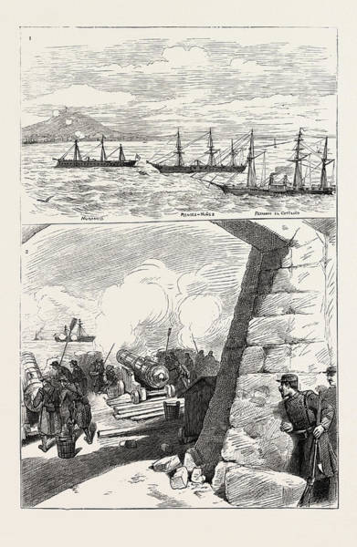 Wall Art - Drawing - The Bombardment Of Alicante by Spanish School