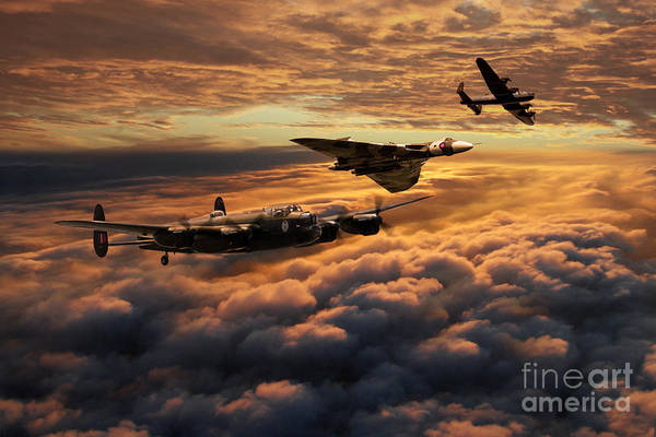 Wall Art - Digital Art - The Bomber Age  by J Biggadike