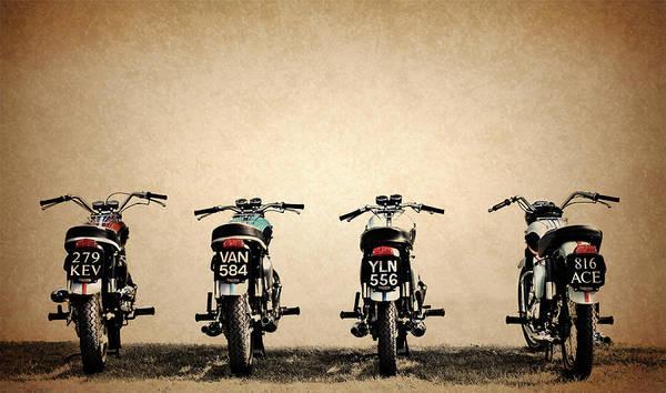 Triumph Photograph - The Bonneville Four by Mark Rogan