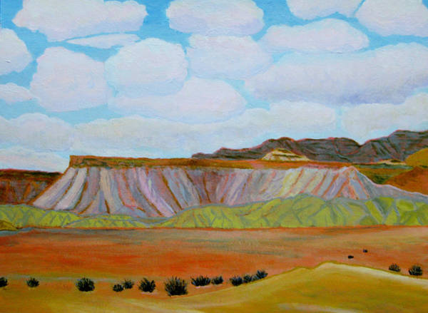 Grand Mesa Painting - The Book Cliffs In Pale Light by Ann Laase Bailey