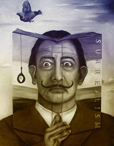 Salvador Dali Painting - The Book Of Surrealism Edit 4 by Leah Saulnier The Painting Maniac
