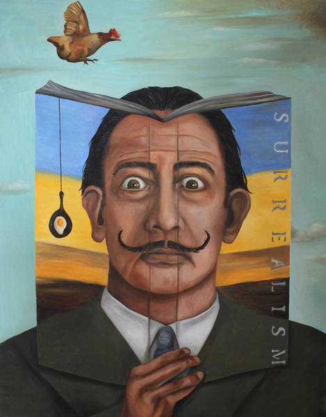 Dali Painting - The Book Of Surrealism by Leah Saulnier The Painting Maniac