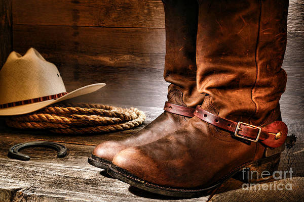 Rodeo Photograph - The Boots by Olivier Le Queinec