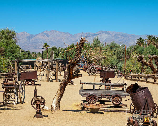 Furnace Creek Photograph - The Borax Museum by Stephen Whalen