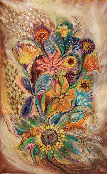 Wall Art - Painting - The Bouquet Of Life by Elena Kotliarker