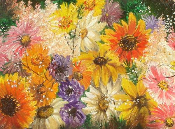 Painting - The Bouquet by Sorin Apostolescu