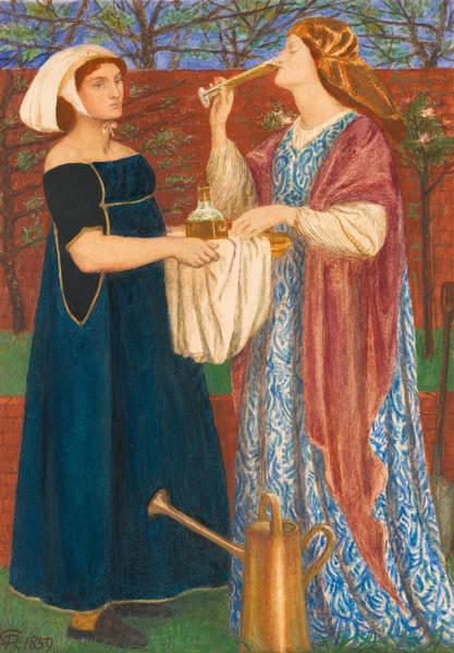 Gabriel Painting - The Bower Garden by Dante Gabriel Rossetti