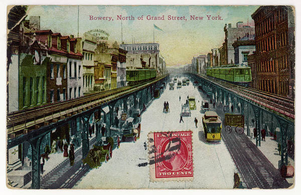 Wall Art - Photograph - The Bowery, North Of Grand Street by Mary Evans Picture Library