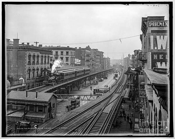 Photograph - The Bowery by Russell Brown