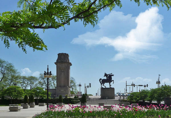 Photograph - The Bowman In Chicago's Grant Park by Ginger Wakem