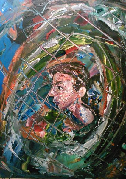 Painting - The Boy In The Mirror by Ray Khalife