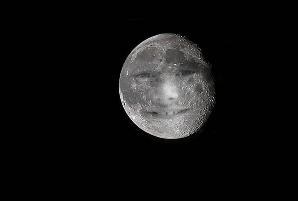 Humor In Art And Photograph - The Boy In The Moon by Mr Bennett Kent